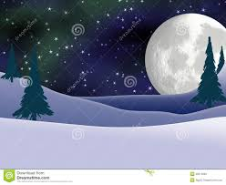 full moon and northern lights christmas card stock photos image