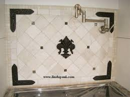 kitchen backsplash metal medallions fleur de lis tile kitchen backsplash wall decor accent tiles