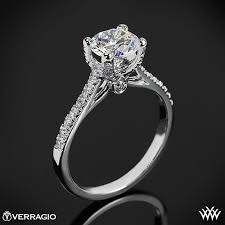 pave engagement rings images Verragio 4 prong pave diamond engagement ring 1804 jpg