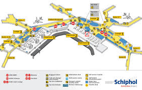 amsterdam schiphol airport map luggagebuddy
