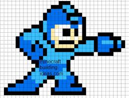 minecraft pixel art templates megaman