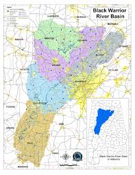Alabama Time Zone Map by Black Warrior River American Rivers