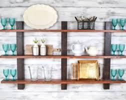 Rustic Wood Bookshelves by Open Shelving Etsy