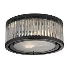 flush mount ceiling light fixtures oil rubbed bronze elk 46132 2 linden oil rubbed bronze flush mount ceiling light