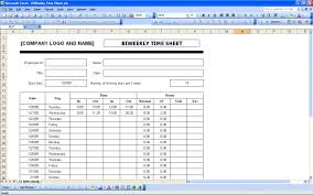 Bi Weekly Timesheet Template Excel Sheets Excel Templates