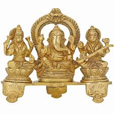 Statues For Home Decor by Handmade Indian Brass Ganesha Lakshmi U0026 Saraswati Statue Hindu