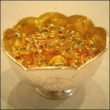silver flowers silver flower basket with gold coated silver flowers send silver