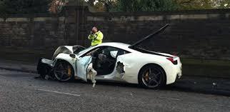 ferrari 458 italia crashes in scotland