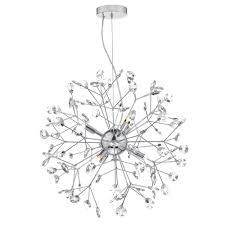 Sputnik Ceiling Light Decorative Polished Chrome Sputnik Style Pendant With