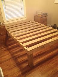 Bed Frame Used I Made A Bed Frame I Ve Never Used A Drill Or Purchased Lumbar Or