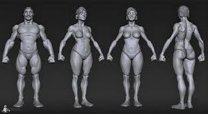 Female Body Reference For 3d Modelling Stylized Female Matthew Kean On Artstation At Http Www