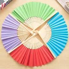 held paper fans handmade folding fan bamboo silk flower held paper