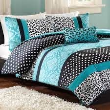 Twin Bed Comforter Sets Mizone Chloe Twin Xl Comforter Set Teal Leopard Free Shipping