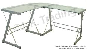 Glass L Shaped Desk Final Two Black On Black Executive L Shaped Tables On Sale For 136 99