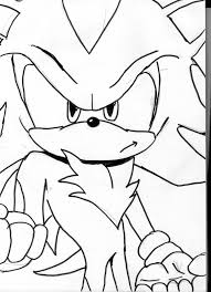 sonic the hedgehog coloring page shadow the hedgehog coloring pages