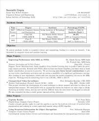 Sample Resume For Freshers Engineers Computer Science by 21 Fresher Resume Templates Free U0026 Premium Templates