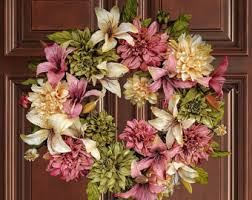 spring wreaths for front door desert succulent wreath summer wreath front door wreaths