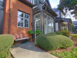 exteriors modern classic house with high window glasses and