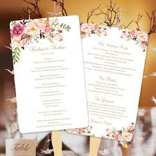 wedding ceremony fan programs wedding program fan blossoms diy ceremony program