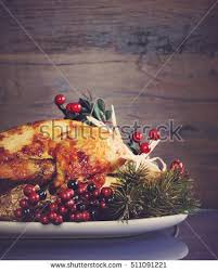 scrumptious roast turkey chicken on platter stock photo 511091221