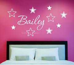 wall art design custom vinyl family name decal date name stars personalised wall art sticker