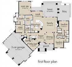 craftsman style floor plans craftsman style house plan 3 beds 3 00 baths 2847 sq ft plan