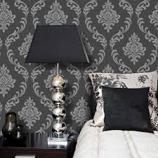 torino black and grey damask wallpaper 22 cotton fields images