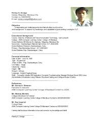 cv for computer engineer sample resume for ojt computer science students
