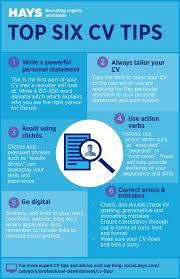 cv tips top six cv tips