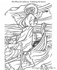 calming storm coloring pages miracles jesus