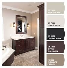 what color goes with brown bathroom cabinets paint colors from colorsnap by sherwin williams bathroom