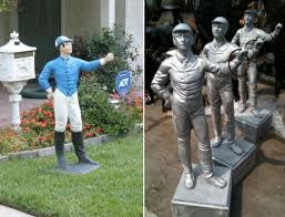 aluminum lawn jockey unpainted lawn jockey unpainted alum123