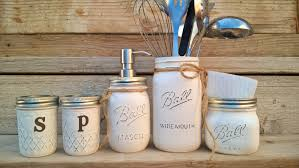 mason jar kitchen set rustic kitchen salt and pepper