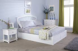 Milan Bed Frame Milan Bed Company Madrid 5ft Kingsize Wooden Ottoman Bed White
