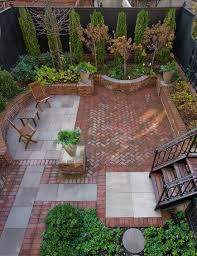 Backyard Ideas For Small Spaces by Outdoors Tiny Backyard Design With Beautiful Brick Patio And