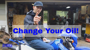 how to change your motorcycle oil drz400s suzuki youtube