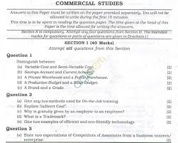 icse question papers 2013 for class 10 u2013 commercial studies