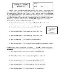 finding density worksheet worksheets
