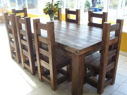 Solid Oak Dining Table Set Reclaimed Solid Wood Dining Table And Chairs Use J K To Navigate