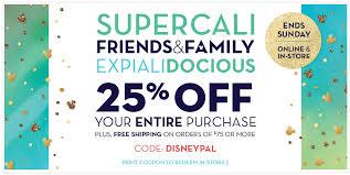 disney store coupon 25 friends family sale