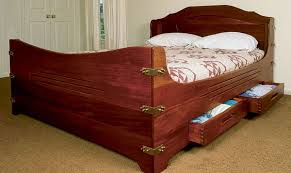 captain s bed finewoodworking