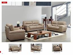 Beige Leather Living Room Set Esf 8052 Modern Beige Italian Leather Living Room Sofa Loveseat