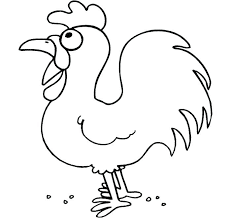 coloring page of a chicken chicken coloring page lumedia co