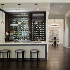 Wine Cellar Behind Custom Bar Home Design And Ideas Luxury - Home wine cellar design ideas