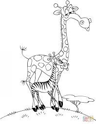 standing giraffe coloring page house and rainbow coloring page