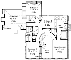 colonial style house plan 4 beds 2 5 baths 3834 sq ft plan 410