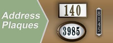 historical plaques markers address numbers house plaques