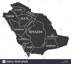 tabuk map saudi arabia map cut out stock images pictures alamy