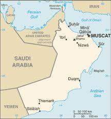 rub al khali map of oman