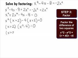 college algebra solving a polynomial by factoring example 3